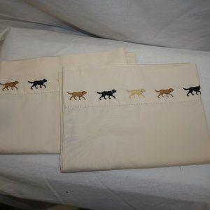 LL BEAN Rare Lab Retriever Embroidered Pillowcases